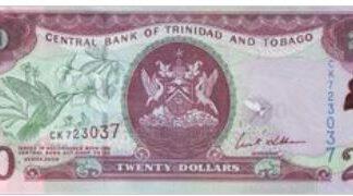 Trinidad & Tobaco 20 Dollar 2006 UNC