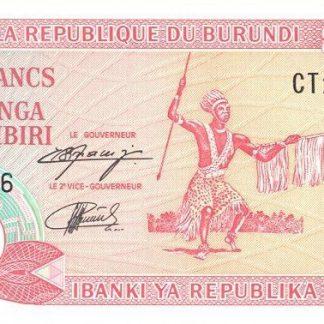 Burundi 20 Frank 1997 UNC