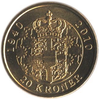 Denemarken 20 Kronen 2010 UNC