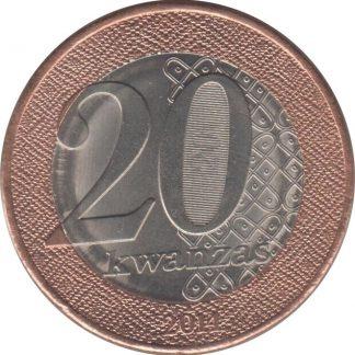 Angola 20 Kwanzas 2014 UNC