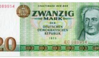 Duitse Democratische Republiek 20 Mark 1975 UNC