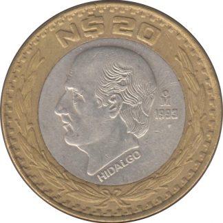 Mexico 20 Pesos 1993 UNC