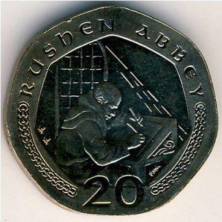 Eiland Man 20 Pence 2002 UNC
