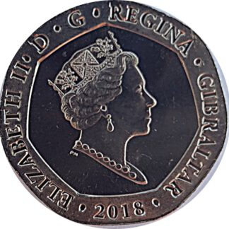 Gibraltar 20 Pence 2018 UNC