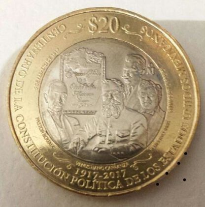 Mexico 20 Pesos 2017 UNC