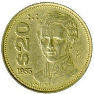 Mexico 20 Pesos 1985 UNC