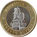 Mauritius 20 Rupees 2007 UNC