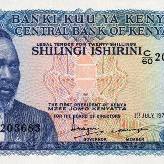 Kenya 20 Shilling 1978 UNC