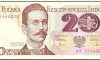Polen 20 Zloty 1982 UNC