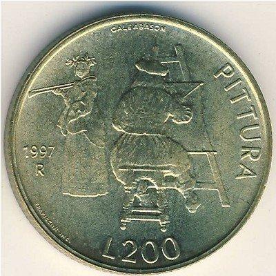 San Mario 200 Lira 1997 UNC