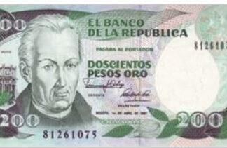 Colombia 200 Pesos 1991 UNC