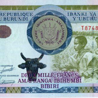 Burundi 2000 Frank 2008 UNC