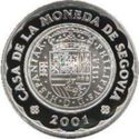 Spanje 2000 Peseta's 2001 Proof