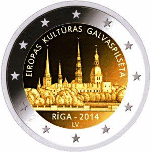 Letland 2 Euro Speciaal 2014 UNC