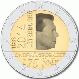 Luxemburg 2 Euro Speciaal 2014 UNC