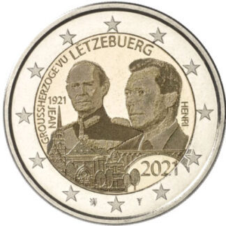 Luxemburg 2 Euro speciaal 2021 UNC