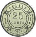 Belize 25 cent 2007 UNC