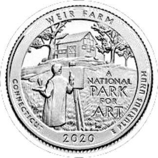 Amerika 1/4 Dollar 2020 P