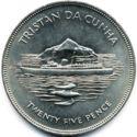 Tristan da Cunha 25 Pence 1977 UNC