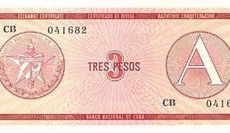 Cuba 3 Pesos 1985 UNC