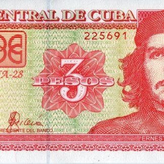 Cuba 3 Pesos 2004 UNC
