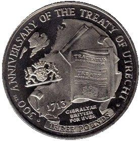 Gibraltar 3 Pound 2013 UNC