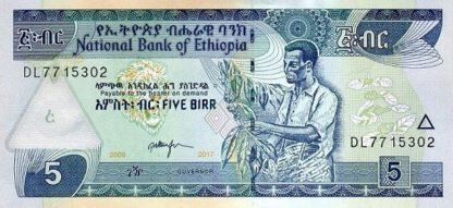 Ethiopie 5 Birr 2017 UNC