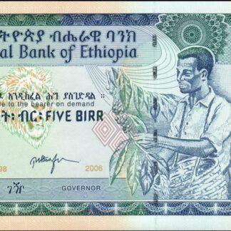 Ethiopie 5 Birr 2006 UNC