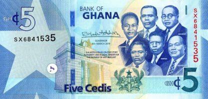 Ghana 5 Cedis 2019 UNC