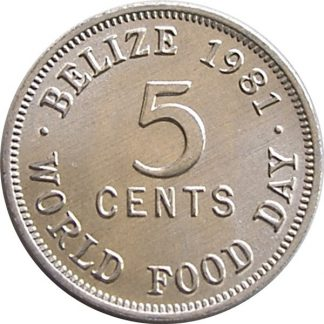 Belize 5 Cent 1981 UNC