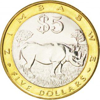 5 Dollar 2002 UNC
