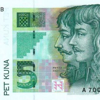 Kroatie 5 Kuna 1993 UNC