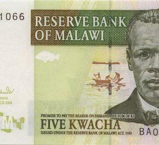 Malawi 5 Kwacha 2004 UNC