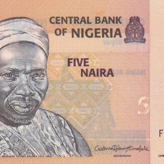 Nigeria 5 Naira 2019 UNC