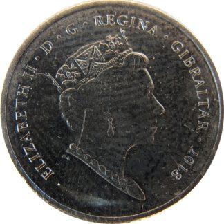 Gibraltar 5 Pence 2018 UNC