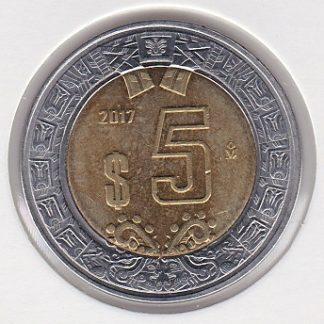 5 Pesos 2017 UNC