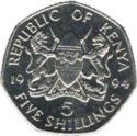 Kenya 5 Shilling 1994 UNC