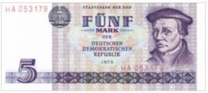 Duitse Democratische Republiek 5 Mark 1975 UNC