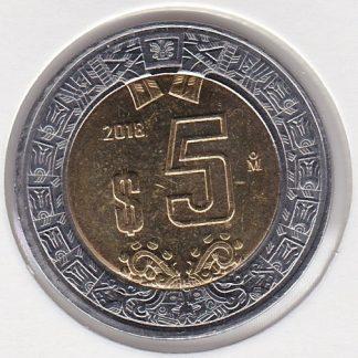 5 Pesos 2018 UNC