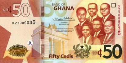 Ghana 50 Cedis 2019 UNC