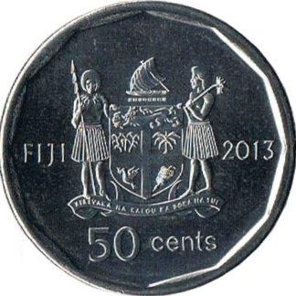 Fiji 50 pence 2013 UNC