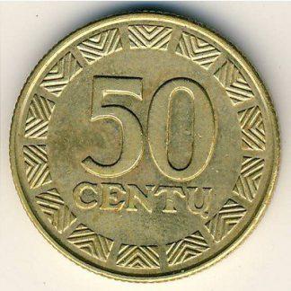 Litouwen 50 Centu 1999 UNC