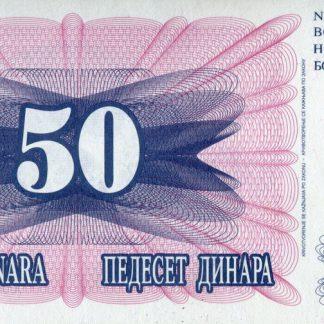 Bosnie Herzegovina 50 Dinara 1992 UNC