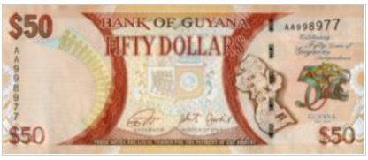 Guyana 50 Dollar 2016 UNC
