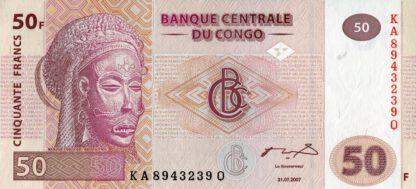Du Congo 50 Frank 2007 UNC