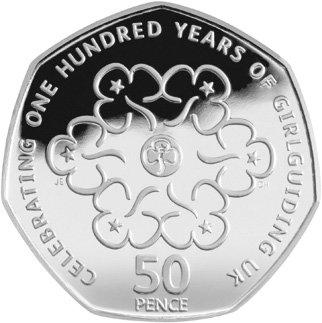 Engeland 50 Pence 2010 Proef