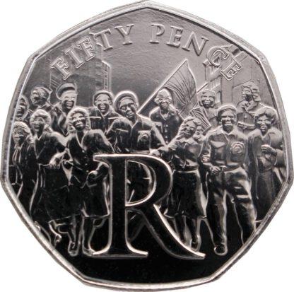 Eiland Man 50 pence 2020 UNC