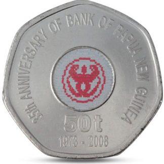 50 Toea 2008 UNC