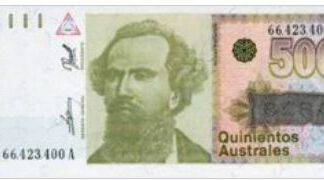 Argentina 500 Australs 1990 UNC