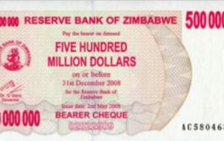 Zimbabwe 500.000.000 Dollar 2008 UNC